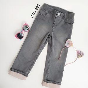 GAP Girls Pants Straight Fit Gray size 4T